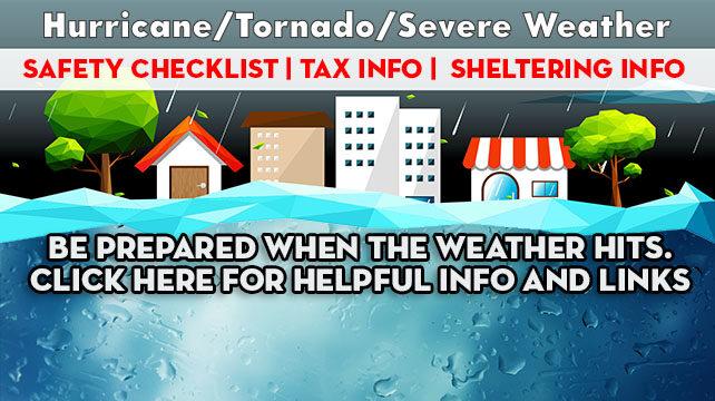 Hurricane/Tornado/Severe Weather Checklist